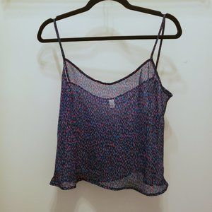 3/25 American Apparel Confetti Crop Sheer Tank